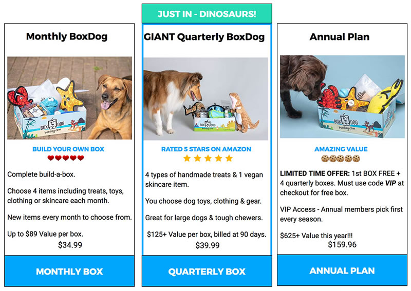 BoxDog Subscription Plans