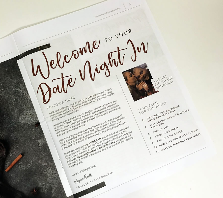 Date Night In Box Date Itinerary