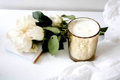 Wickbox White Candle